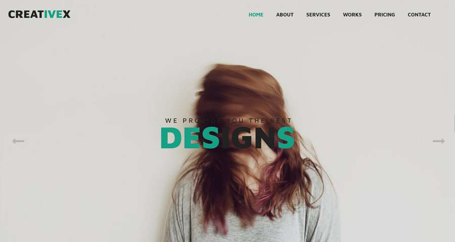 CreativeX – Creative Flat WebsiteTemplate with HTML, CSS, Bootstrap