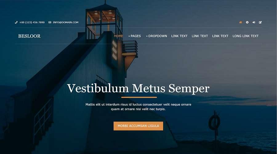 Besloor –Free Website Template