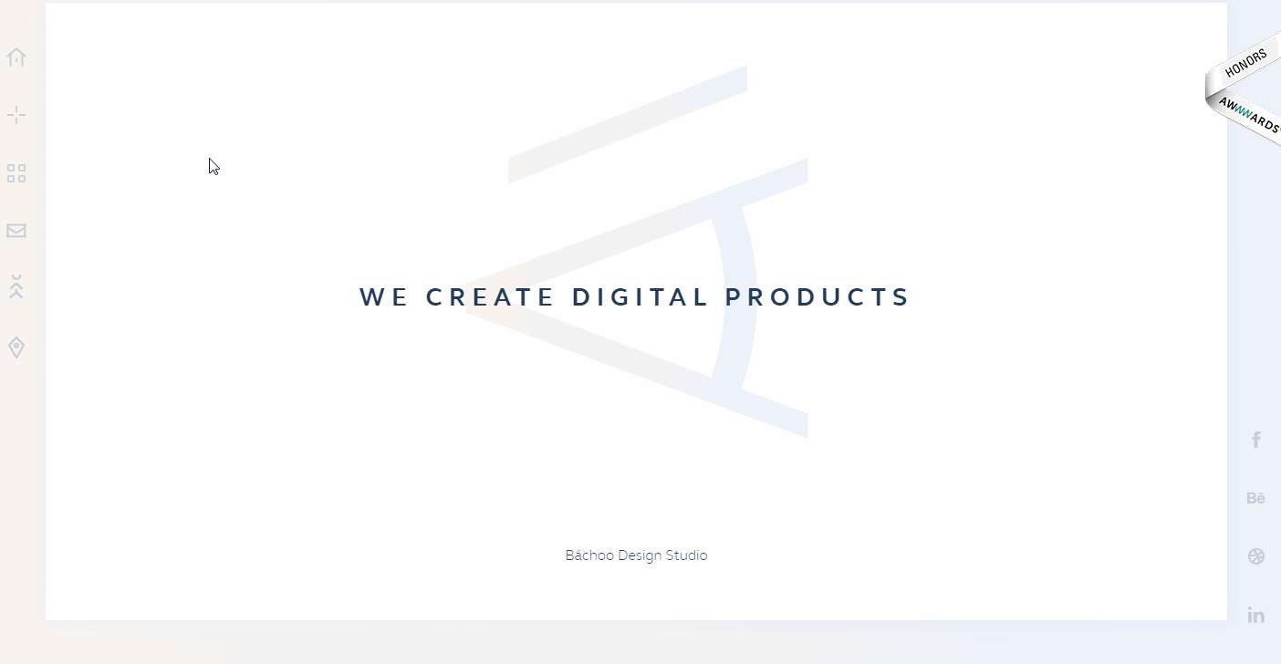 Bachood Design Minimalist Website Example