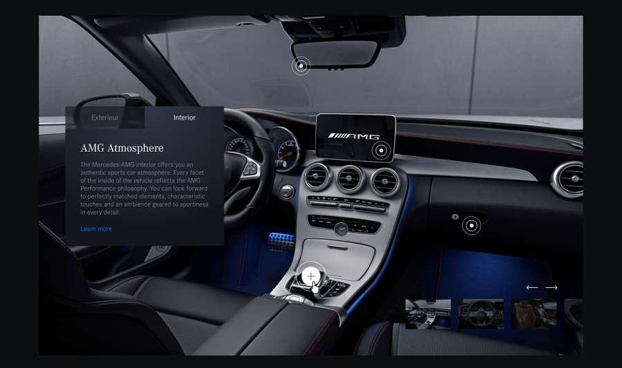 Mercedes Class Gallery Carousel Concept