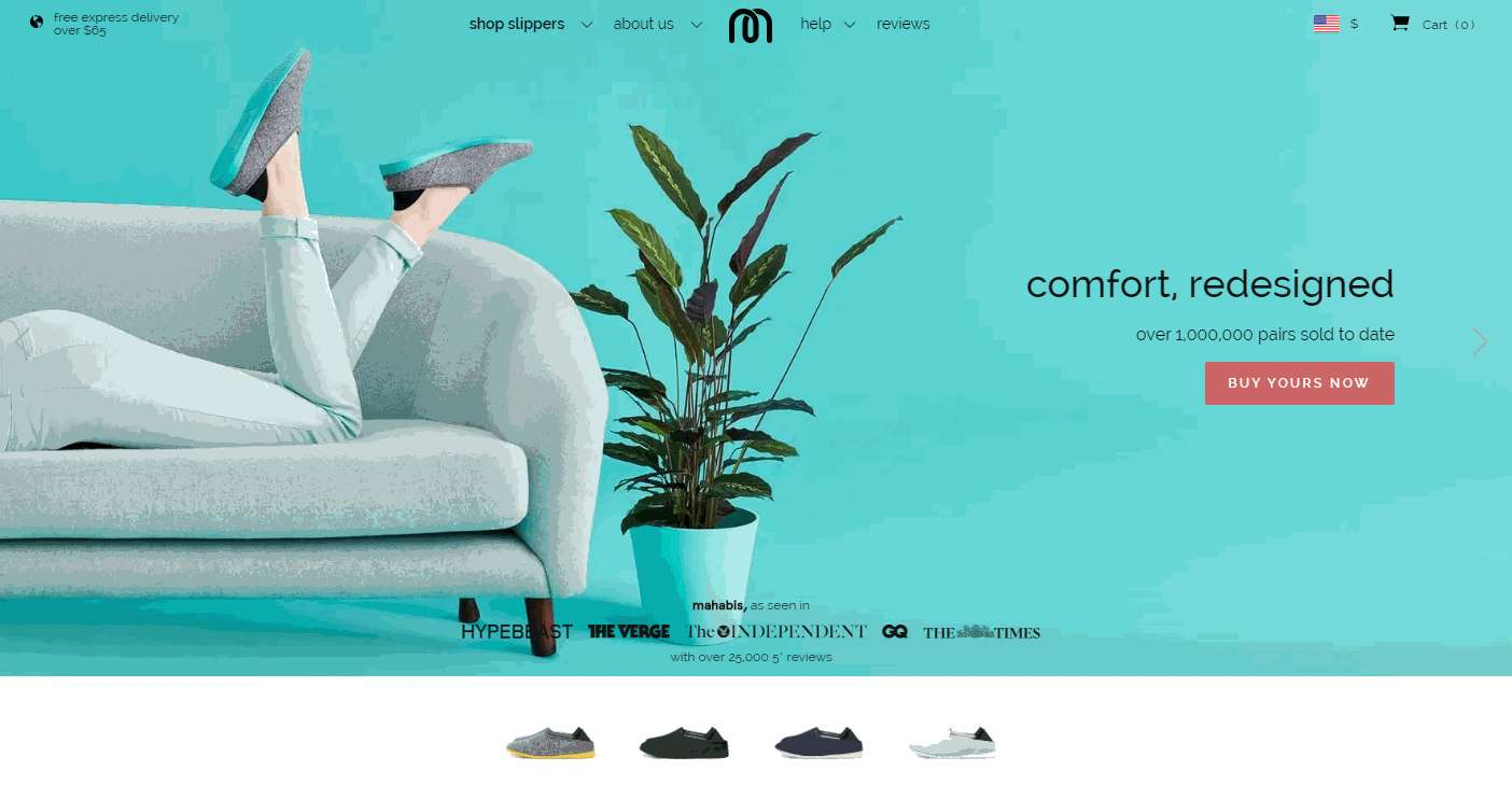 Mahabis Minimalist CSS Website Example