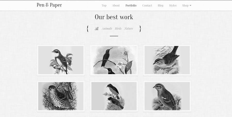 Pen & Paper - Chinese Ink Style Website