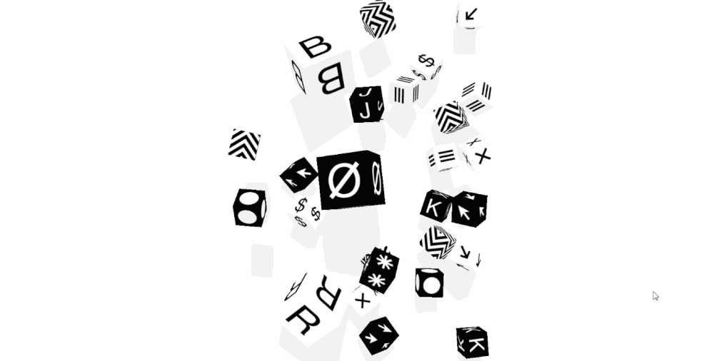 Studio Bjork - interactive black and white website template