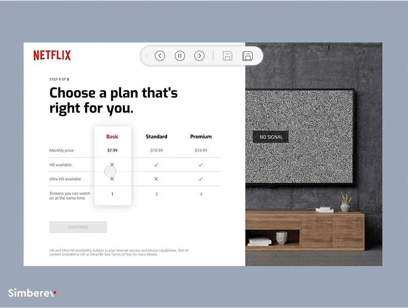 Netflix Price Page