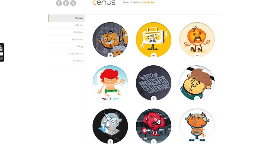 Cenus Modern Minimalist Website Template