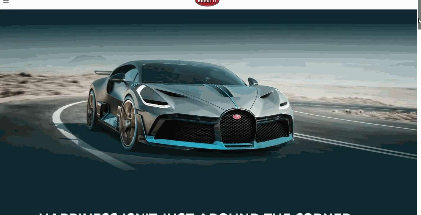 Bugatti Divo – responsive CCS3 black and white website template