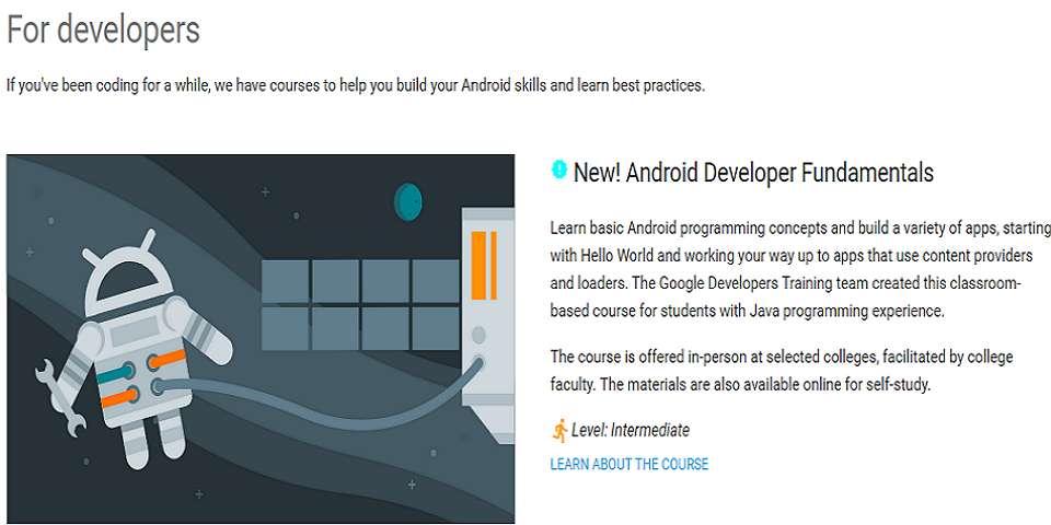 Google developers training