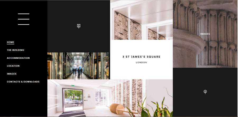 3 St James Square - great black and white website templates