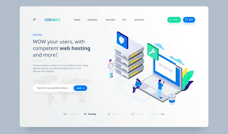 Web design trend 2019 - 6 minimalist web design