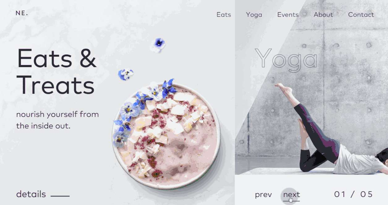 Nourish Eats CSS3 Minimalist Website Template