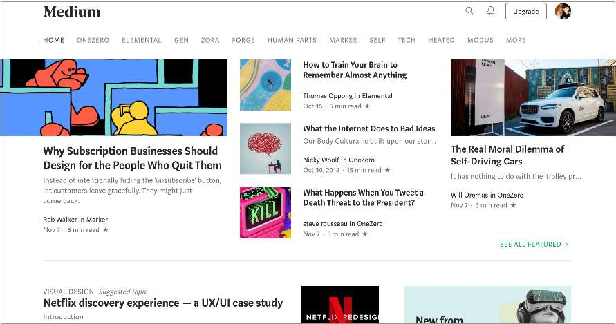 Medium–homepage