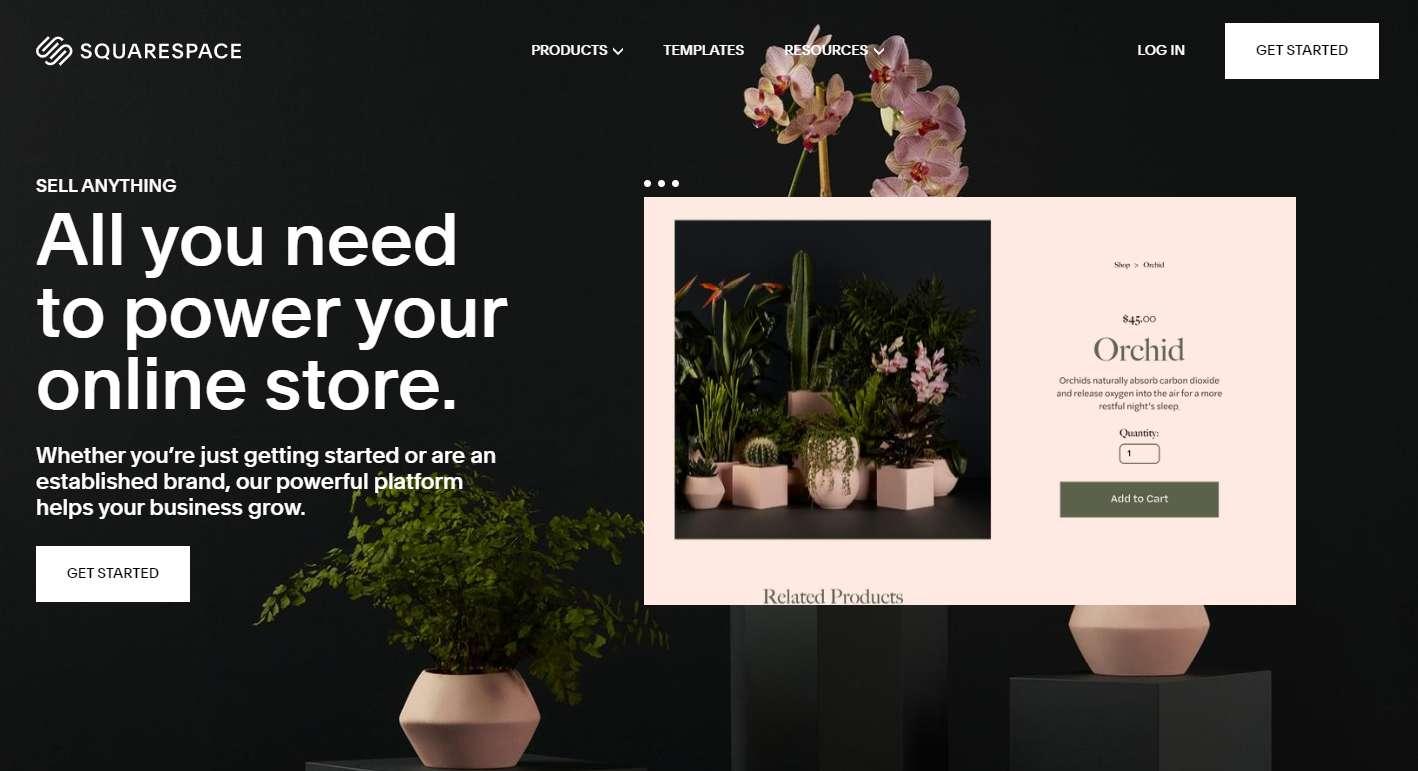 Squarespace Website Template Carousel