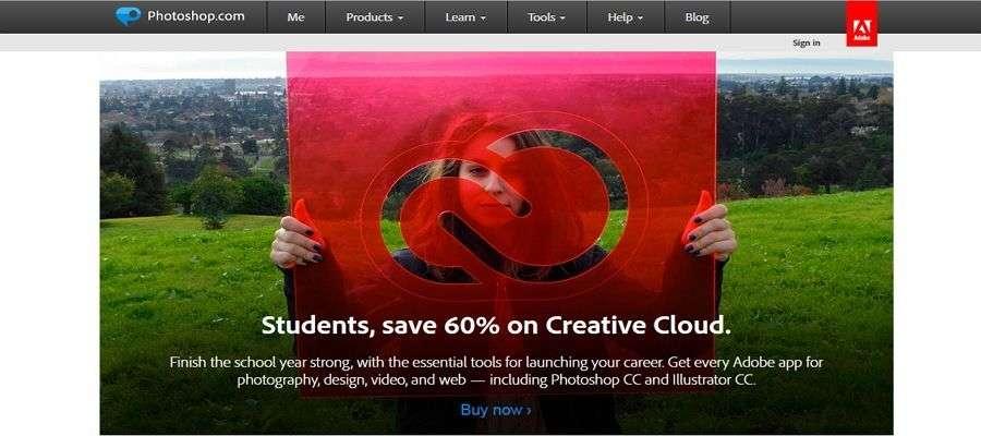 UI software for visual design, Adobe Photoshop.