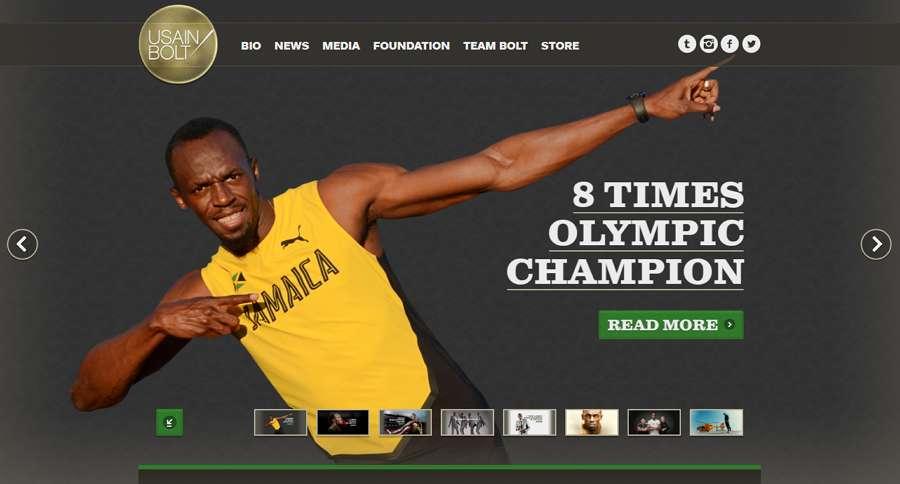 Usain Bolt Fullscreen Image Carousel