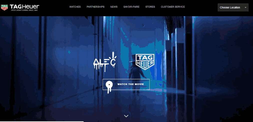 Animated Tag Heuer HTML5 CSS3 Minimalist Website Template