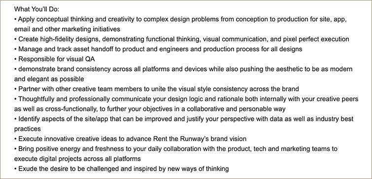 Product designer requirement via Greenhouse