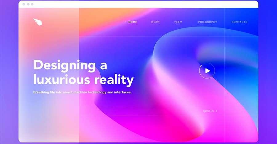 Colorful Website UI