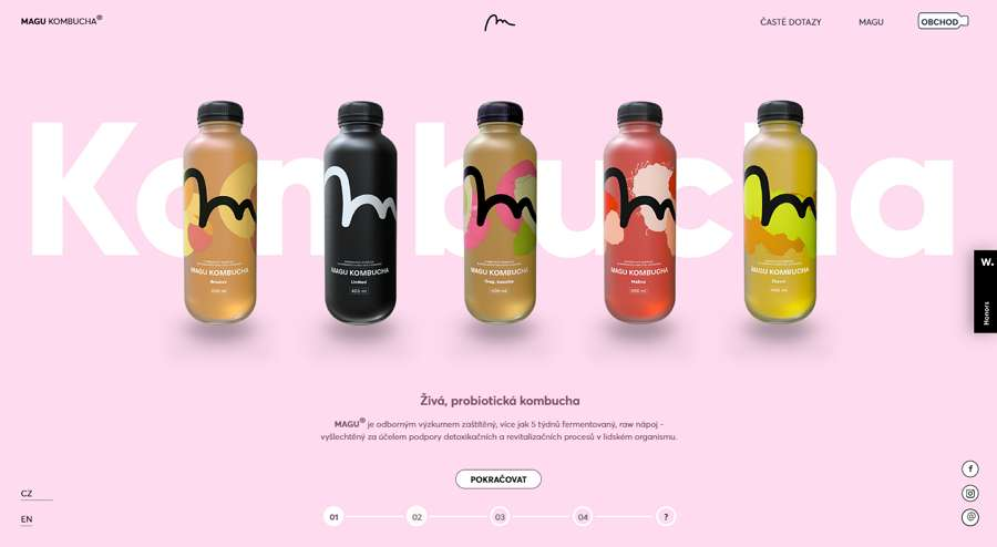 Magu Kombucha Minimalist Ecommerce Website Template