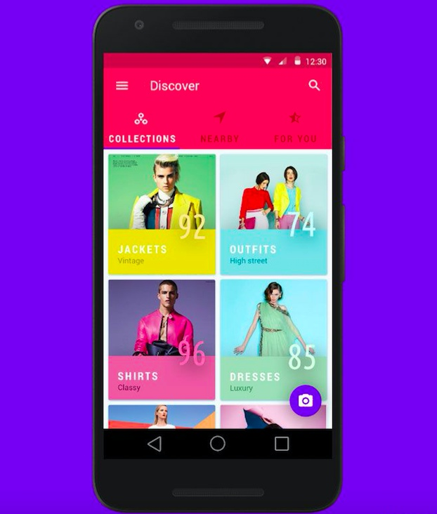 Clothing Mobile App Design