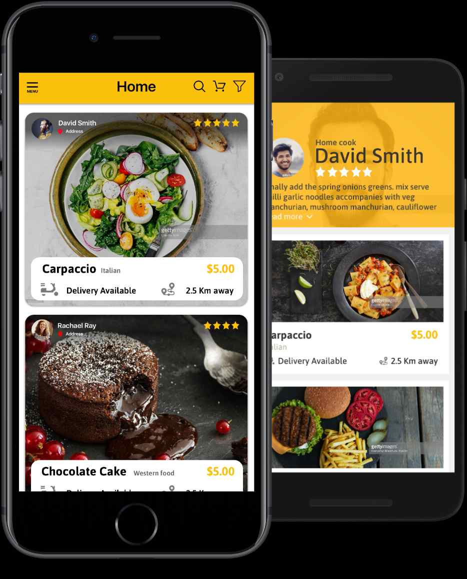 Gourmet Order Mobile App Design