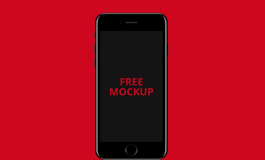 Free PSD mockup Apple iPhone 7