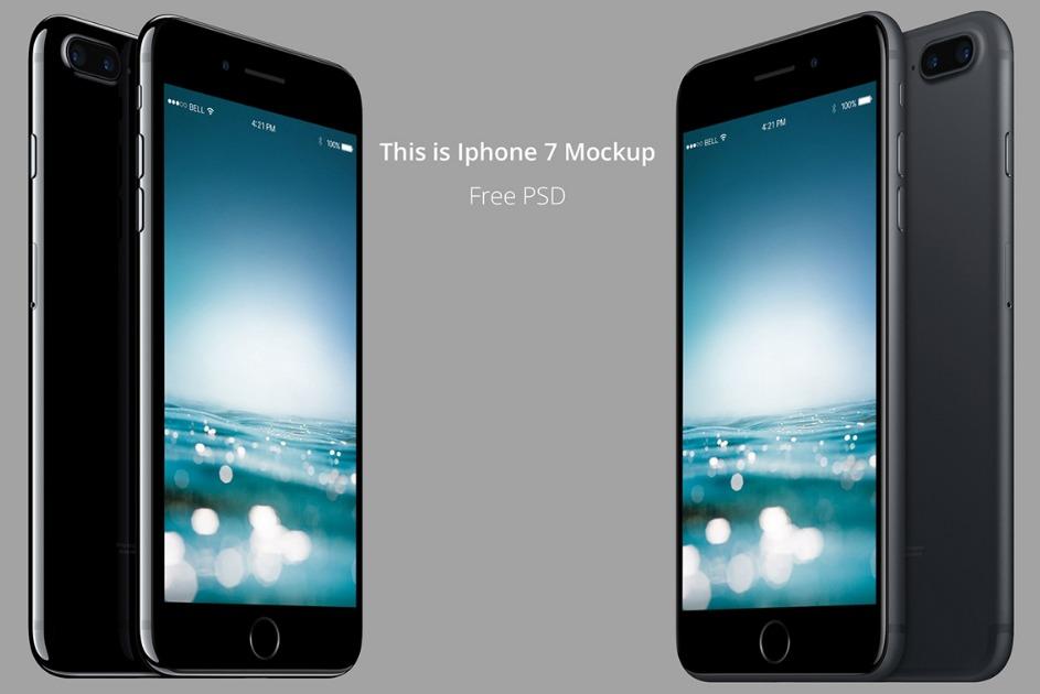 iPhone 7 Mockup PSD Free download
