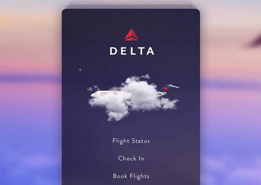 Delta Flight App Concept - Splash Screen