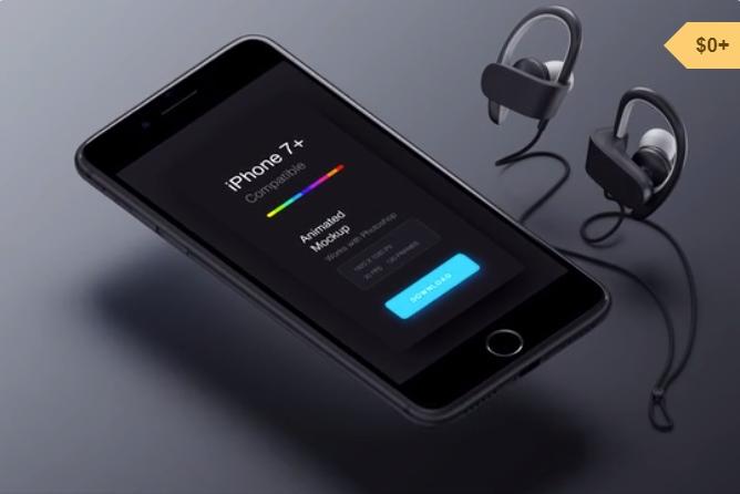 iPhone 7 Free Animated Mockup