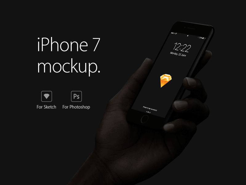 Freebie: iPhone 7 Mockup for Sketch and Photoshop