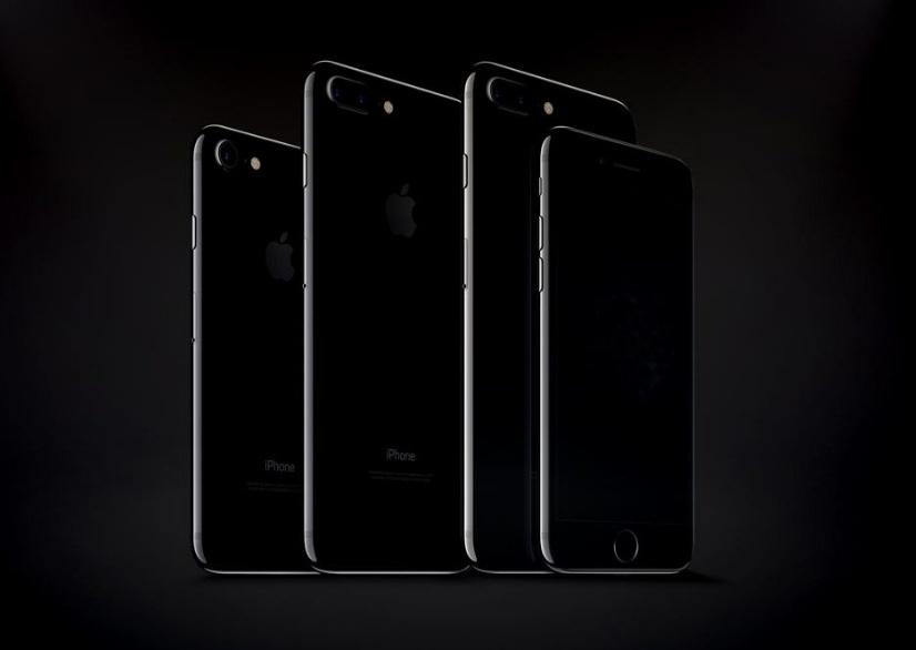 iPhone 7 and iPhone 7 Plus Jet Black Mockups