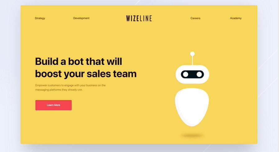 Flat web design - Wizeline