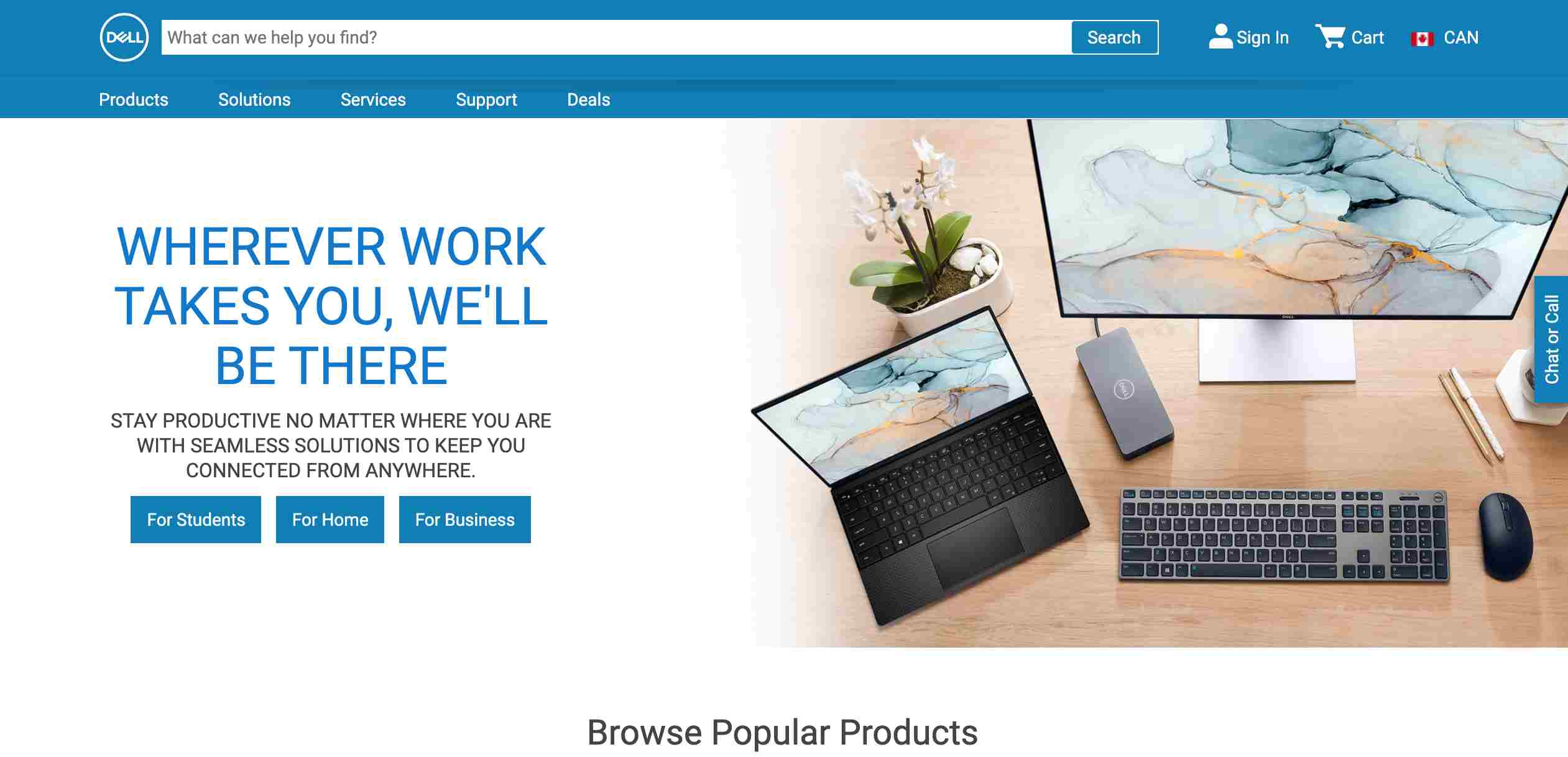 Dell new website design