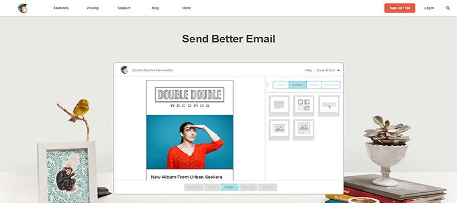 Flat web design - Mailchimp