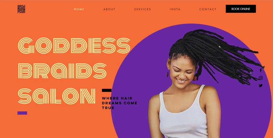 Los fuertes contrastes de color hacen que la jerarquía visual del sitio web sea más clara para los usuarios