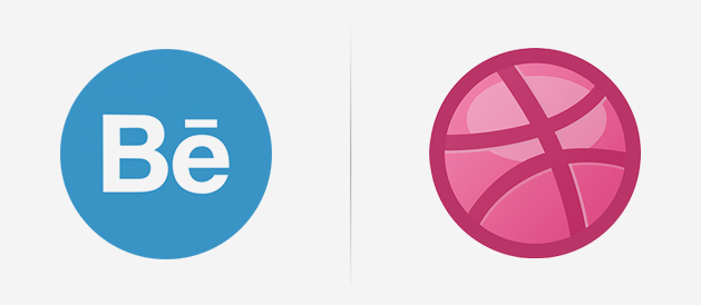 Position Difference between Behance and Dribbble