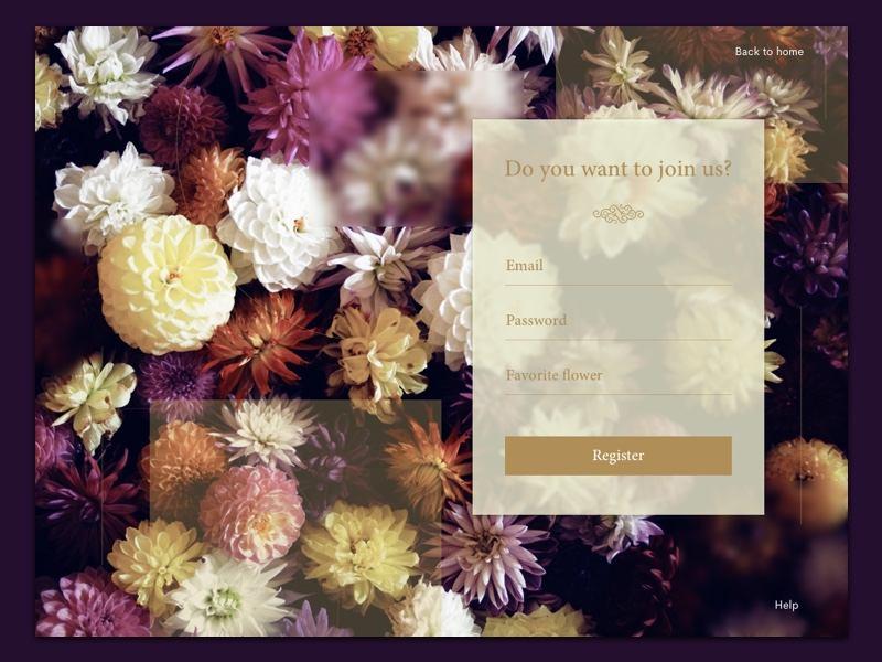 Floral sign up