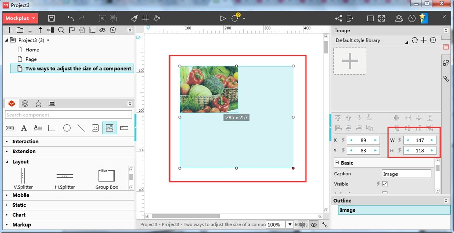 Two Ways of Mockplus to Adjust the Size of Web Elements