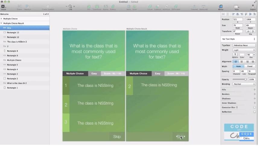 Sketch3 foriOSApp Design Step by Step