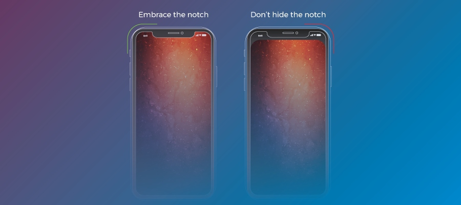 iPhone X screen: Notch