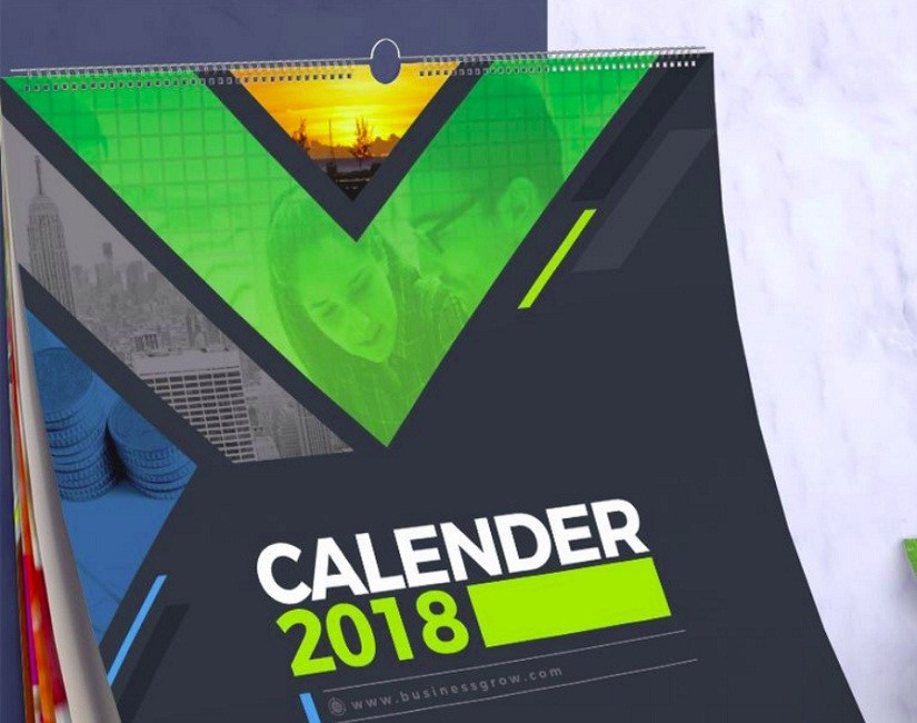2018 Wall and Desk Calendar Design Corporate Identity Template