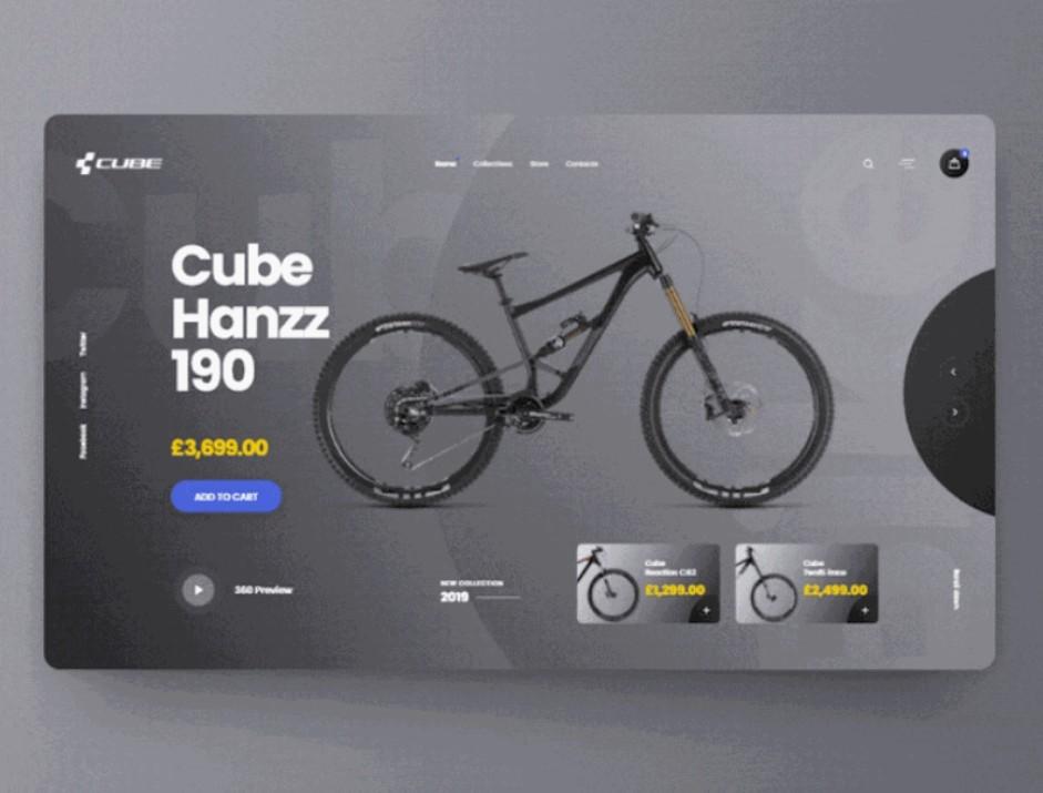 Cube eShop - UI Animations Concept