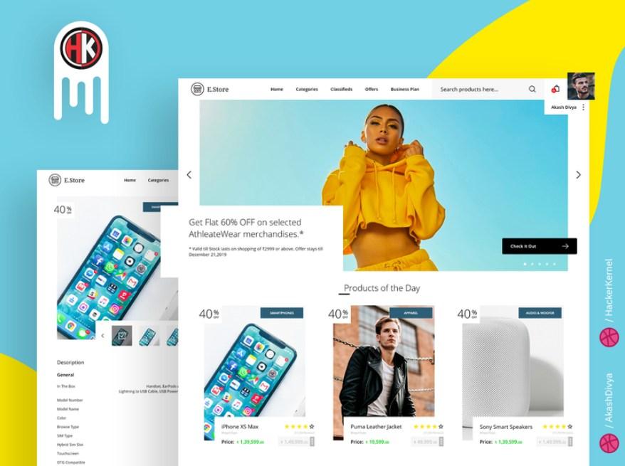E-Store - a Modern E-Commerce Website Design