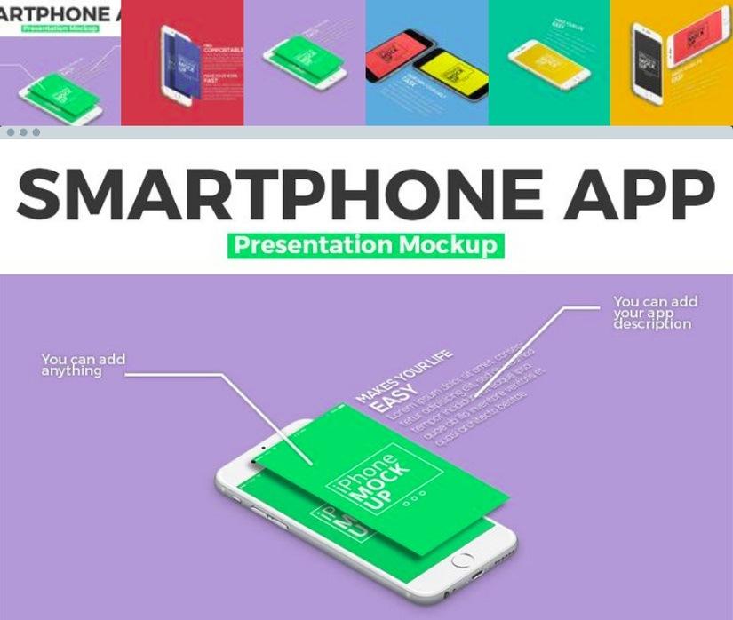 Smartphone App Product Mockup