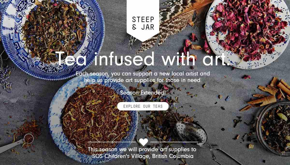 Steep & Jar ecommerce website