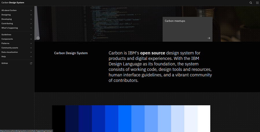 Carbon IBM Design System