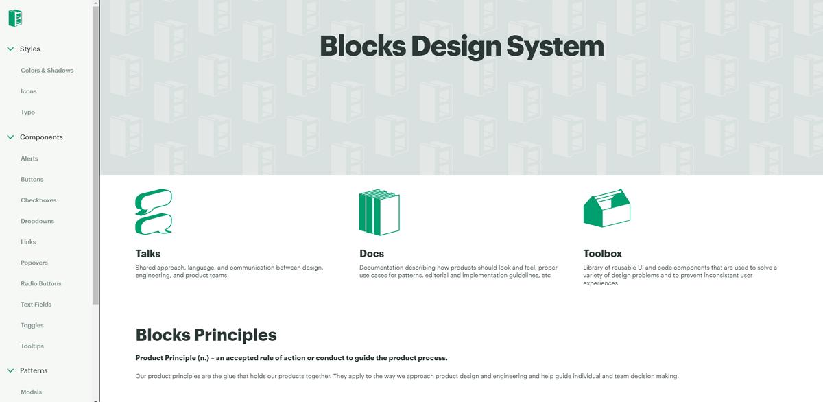 Block Design System