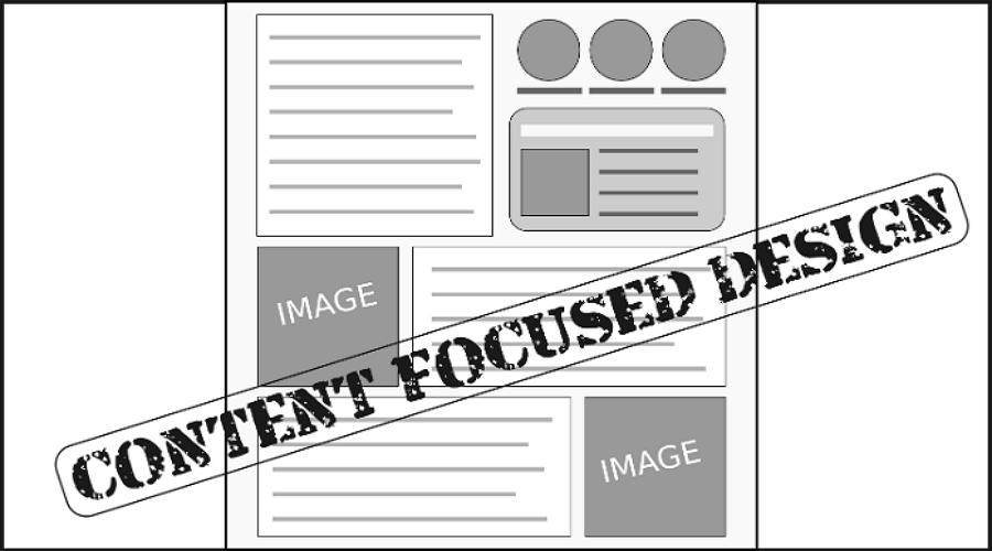 Content-focused design