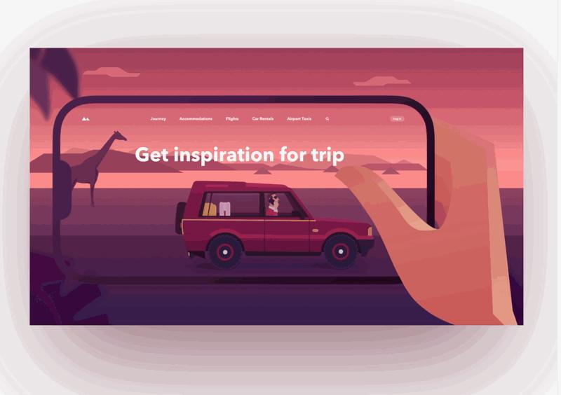 Web design inspiration - travel page animation.gif