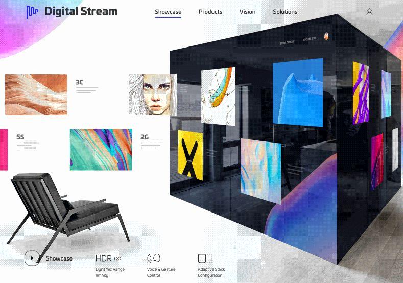 Digital Stream Transition Animation