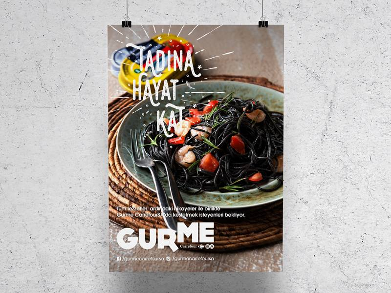 Carrefour SA Gurme Poster Design
